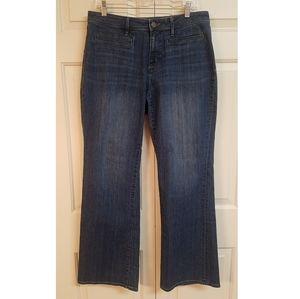 Ann Taylor Loft curvy bootcut jeans, size 12